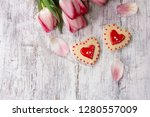 valentines day background with...   Shutterstock . vector #1280557009
