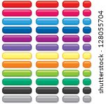 3d rectangular buttons of... | Shutterstock .eps vector #128055704