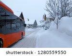 delays in public transport due... | Shutterstock . vector #1280559550