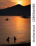 sunrise in the village of... | Shutterstock . vector #1280566480