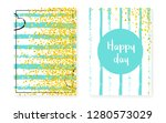 wedding card invitation with... | Shutterstock .eps vector #1280573029