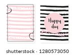 bridal shower card with dots... | Shutterstock .eps vector #1280573050