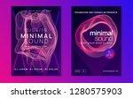 techno event. dynamic gradient... | Shutterstock .eps vector #1280575903