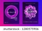 music flyer. dynamic gradient... | Shutterstock .eps vector #1280575906