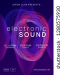 electronic event. futuristic... | Shutterstock .eps vector #1280575930