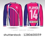 pink and blue layout football...   Shutterstock .eps vector #1280600059