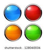 buttons  elements round | Shutterstock .eps vector #128060036