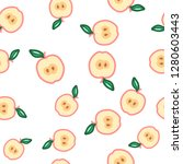 apple seamless pattern. autumn  ... | Shutterstock .eps vector #1280603443