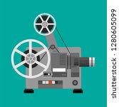 cinema projector  film... | Shutterstock .eps vector #1280605099