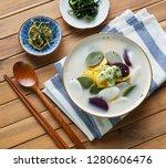 korean food rice cake soup ...   Shutterstock . vector #1280606476