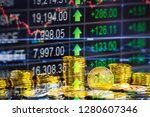 modern way of exchange. bitcoin ... | Shutterstock . vector #1280607346