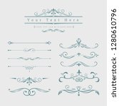 decorative calligraphic... | Shutterstock .eps vector #1280610796