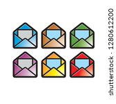 isolated colorful envelope... | Shutterstock .eps vector #1280612200