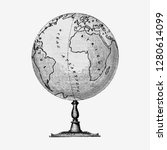 vintage victorian style atlas... | Shutterstock .eps vector #1280614099