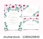 floral wedding invitation with... | Shutterstock .eps vector #1280620840