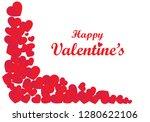 love  happy valentine's day... | Shutterstock .eps vector #1280622106