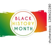black history month design... | Shutterstock .eps vector #1280622280