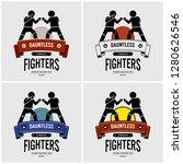 mma mixed martial arts logo...   Shutterstock .eps vector #1280626546