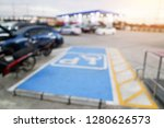 parking for disabled people in... | Shutterstock . vector #1280626573
