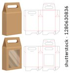 paper bag packaging die cut and ... | Shutterstock .eps vector #1280630836