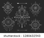 vector kit of sacred geometric... | Shutterstock .eps vector #1280632543
