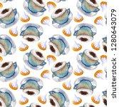 watercolor coffee macchiato cup ...   Shutterstock . vector #1280643079