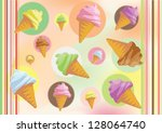 colorfully illustration of ice... | Shutterstock . vector #128064740