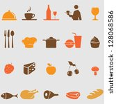 food icons set.vector