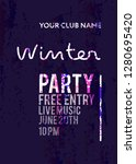 night party banner template for ... | Shutterstock .eps vector #1280695420