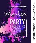 night party banner template for ... | Shutterstock .eps vector #1280695423