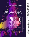 night party banner template for ... | Shutterstock .eps vector #1280695426