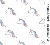 vector seamless pattern with... | Shutterstock .eps vector #1280698519
