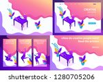 set template design article ... | Shutterstock .eps vector #1280705206