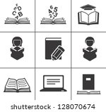 book icons set. | Shutterstock .eps vector #128070674