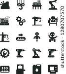 solid black vector icon set  ... | Shutterstock .eps vector #1280707570