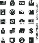 solid black vector icon set  ... | Shutterstock .eps vector #1280707600