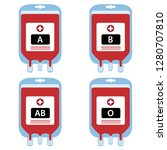 blood bags are donated by blood ...   Shutterstock .eps vector #1280707810
