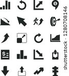 solid black vector icon set  ... | Shutterstock .eps vector #1280708146