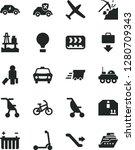 solid black vector icon set  ... | Shutterstock .eps vector #1280709343