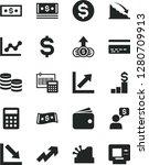 solid black vector icon set  ... | Shutterstock .eps vector #1280709913