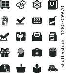 solid black vector icon set  ... | Shutterstock .eps vector #1280709970