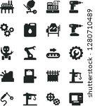 solid black vector icon set  ... | Shutterstock .eps vector #1280710489