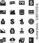 solid black vector icon set  ... | Shutterstock .eps vector #1280710516