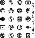 solid black vector icon set  ... | Shutterstock .eps vector #1280710543