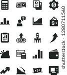solid black vector icon set  ... | Shutterstock .eps vector #1280711560