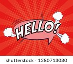 expression bubble with hello... | Shutterstock .eps vector #1280713030