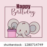 Cute Elephant Happy Birthday...