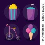 carnival celebration set icons | Shutterstock .eps vector #1280716399