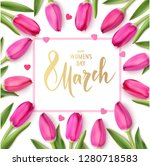 women's day design template.... | Shutterstock .eps vector #1280718583