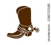 cowboy shoes vector | Shutterstock .eps vector #1280722180